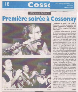 Journal de Cossonay 24 mars 2000