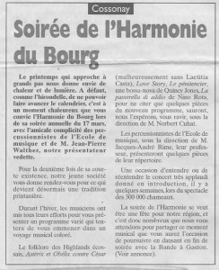 Journal de Morges 16 mars 2001